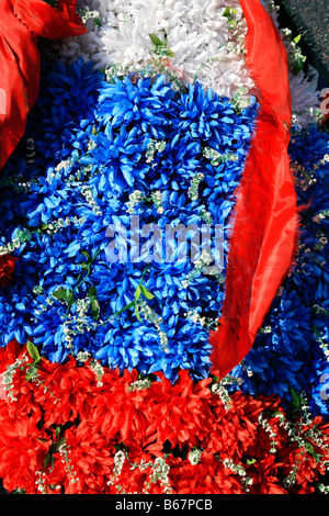 Wreath for the Soviet World War II victims at Victory Park in Moscow, Russia - Stock Photo