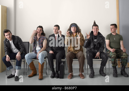 Man in Variety of Costumes - Stock Photo