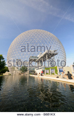 Biosphère of Montréal in Parc Jean Drapeau, Saint Helen's Island in Montreal - Stock Photo