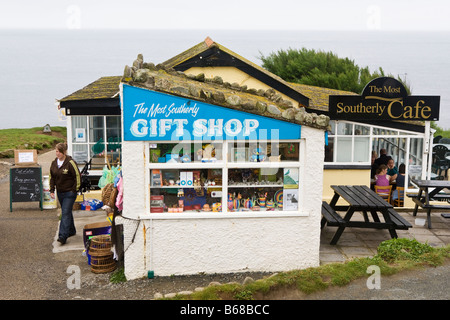 The most southerly gift shop and the most southerly cafe in England (Lizard Point, Cornwall) - Stock Photo