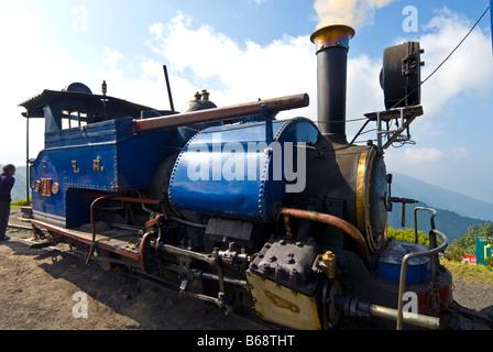 The 'Toy Train' of the Darjeeling Himalayan Railway - Stock Photo