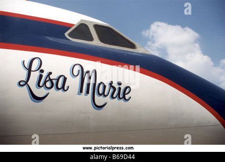 THE LISA MARIE aircraft owned by Elvis Presley was a converted Convair 880 bought in November 1975 - Stock Photo