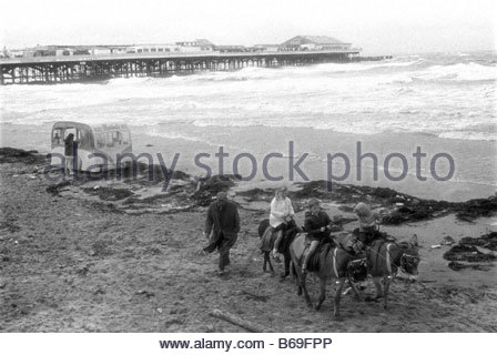 The English at play in the 1970s Part 2 On the beach at Blackpool - Stock Photo