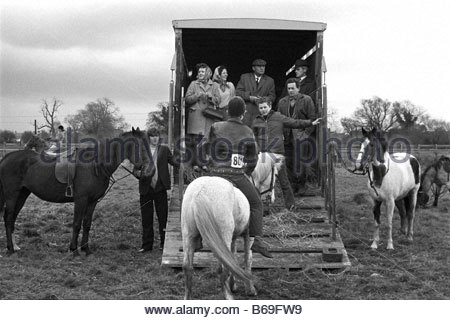 The English at play in the 1970s Part 2 Pony sale in the Cotswolds - Stock Photo