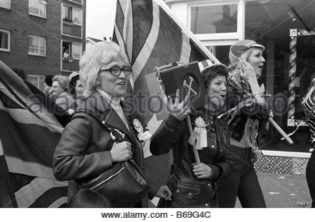 The English at play in the 1970s Part 2 West Ham football supporters - Stock Photo