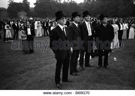 The English at play in the 1970s Part 2 May Ball for undergraduates at Cambridge - Stock Photo