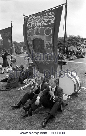 The English at play in the 1970s Part 2 At the Northumberland Miners Gala - Stock Photo