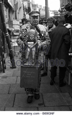 The English at play in the 1970s Part 2 Pearlie King in London - Stock Photo