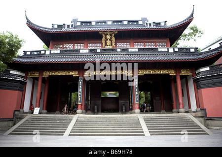 Yue Fei Temple in Hangzhou Zhejiang Province - Stock Photo