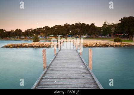 Jetty at Dusk Mandurah Western Australia - Stock Photo