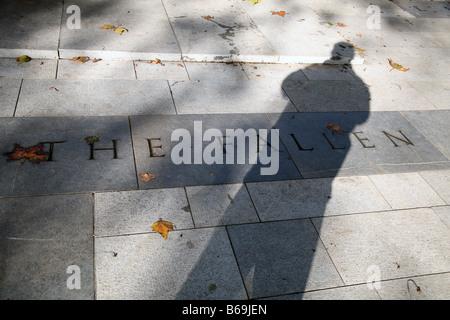 Detail of war memorial, Islington Green, London - Stock Photo