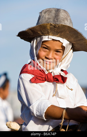 gaucho cowboy cow-boy tradition costume dress - Stock Photo