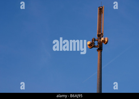 Mobile phone mast in Derbyshire England - Stock Photo