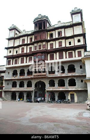 Perspective  View, Rajwada, Indore. Madhya Pradesh, India. - Stock Photo