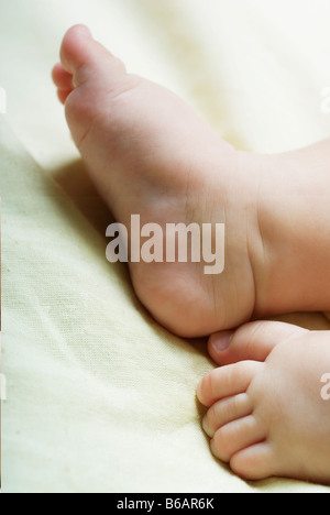 Close-up of baby's feet - Stock Photo