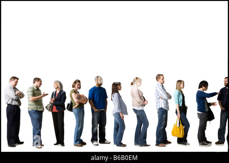 waiting in line - Stock Photo