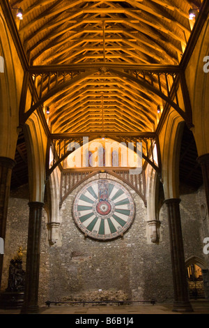The Round Table of King Arthur, Winchester - Stock Photo