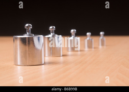 Weights in a row - Stock Photo