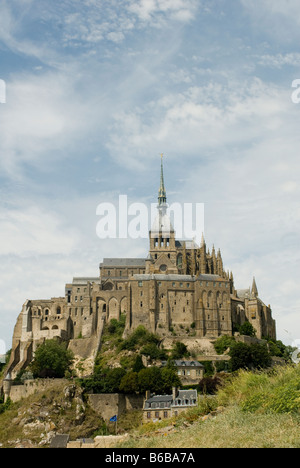 Beautiful view of Mont Saint Michel. St Michaels Mount is a rocky tidal island in Normandy France.