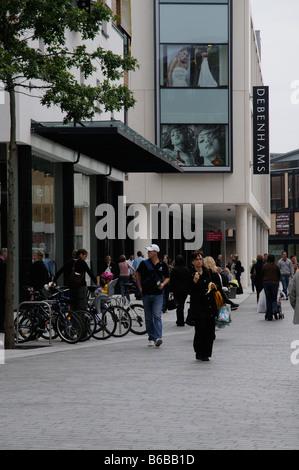 Debenhams departmental store in city centre Exeter Devon England - Stock Photo