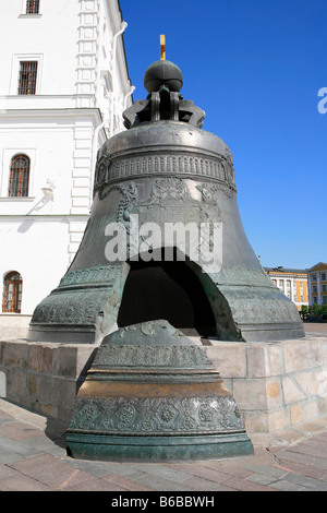 The Czar Bell (1733-1735) at the Kremlin in Moscow, Russia - Stock Photo