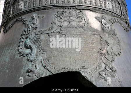 Detail of the Czar Bell (1733-1735) at the Kremlin in Moscow, Russia - Stock Photo