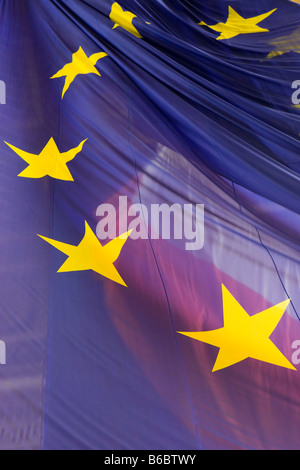 Flying the European Union flag at the Arc de Triomphe, Paris
