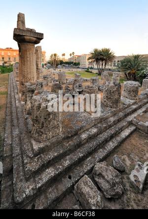 Temple of Apollo (Tempio di Apollo), Syracuse - Stock Photo