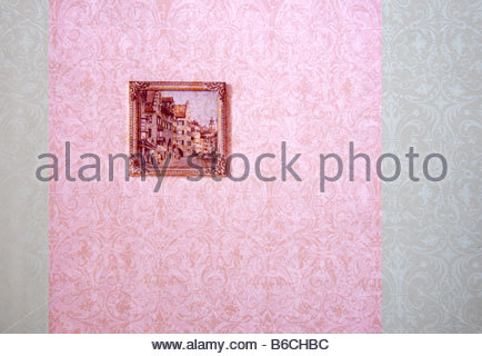Painting hanging on wall - Stock Photo
