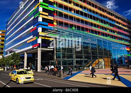 Architecture / A Modern Office Building in Melbourne Victoria Australia. - Stock Photo
