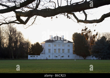 Early morning view of Marble Hill House in London - Stock Photo