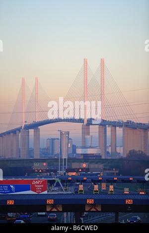 Kent, Queen Elizabeth Bridge, Dartford Crossing - Stock Photo