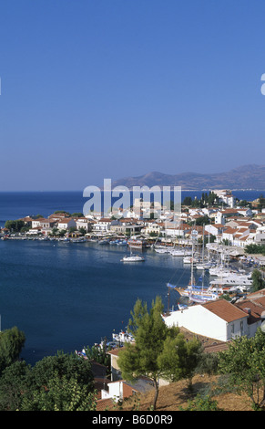 Buildings at waterfront, Pythagorion, Samos, Aegean Islands, Greece - Stock Photo