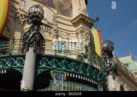 OBECNI DUM MUNICIPAL HOUSE NOVE MESTO  PRAGUE CZECH REPUBLIC - Stock Photo