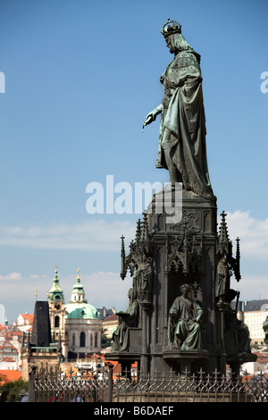 KING CHARLES IV STATUE KNIGHTS SQUARE OLD TOWN STARE MESTO PRAGUE CZECH REPUBLIC - Stock Photo