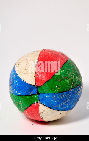 dogs old chewed ball - Stock Photo