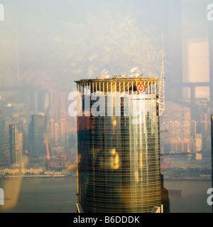 bank of china shanghai china Logo on building needs removing for ad&promo usage - Stock Photo