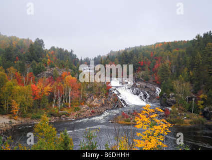 Onaping falls near Sudbury, Ontario at the A.Y. Jackson lookout Stock Photo