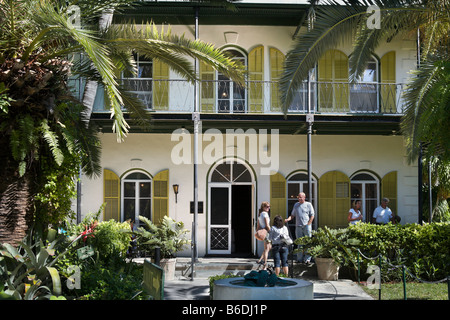 Ernest Hemingway Home and Museum, Whitehead Street, Key West, Florida Keys, USA - Stock Photo