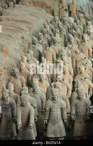 Terracotta soldiers. Tomb of Qin Shi Huang Di. Xi´an ...