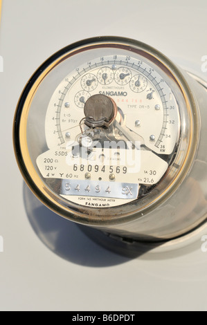 Close up of electric meter - Stock Photo