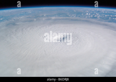 Hurricane Isabel. This image was taken from the International Space Station on 13th September 2003. - Stock Photo