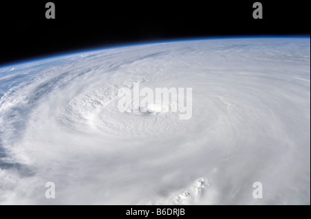 Hurricane Ivan. The eye of Hurricane Ivan, as Ivan was passing over the western peninsula of Cuba, on 13th September - Stock Photo
