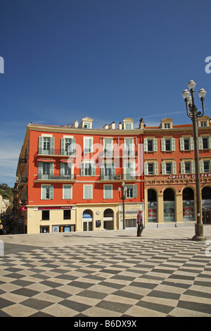 Place Masséna main square, Nice, France - Stock Photo