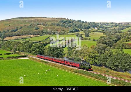 1745 Llangollen Steam Railway Denbighshire North Wales - Stock Photo