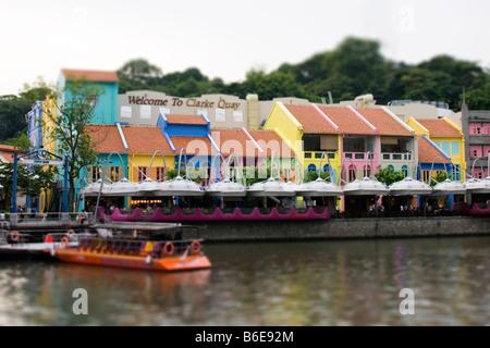 Clarke Quay Singapore - Stock Photo