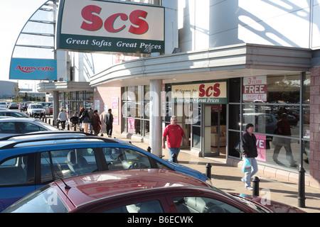 Castle Vale Retail Park, Birmingham - Stock Photo