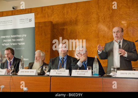 Panel on the Political Aspects of Counterinsurgency, during the Adelson Institute for Strategic Studies Dec. 2008 - Stock Photo