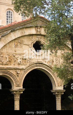 Trabzon's Aya Sofya (Church of the Holy Wisdom), Byzantine facade now a museum overlooking Black Sea - Stock Photo