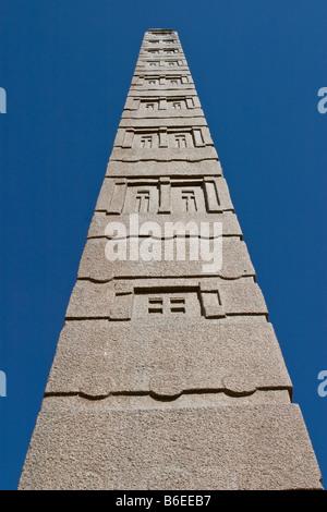 King Ezana's Stele, Northern Stelae Park, Axum, Ethiopia, Africa - Stock Photo